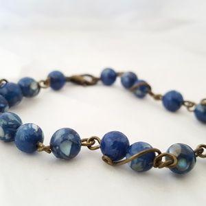 Handmade Reconstituted Blue Shell Bracelet